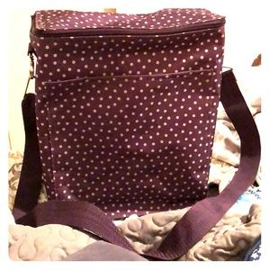 BUNDLE&SAVE! Dark purple dotted cooler